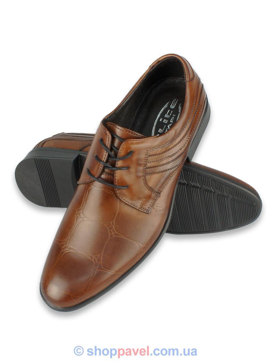 Чоловічі туфли Tapi 4003 коричневого кольору