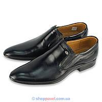 Чоловічі класичні туфлі Tapi 4185 чорного кольору