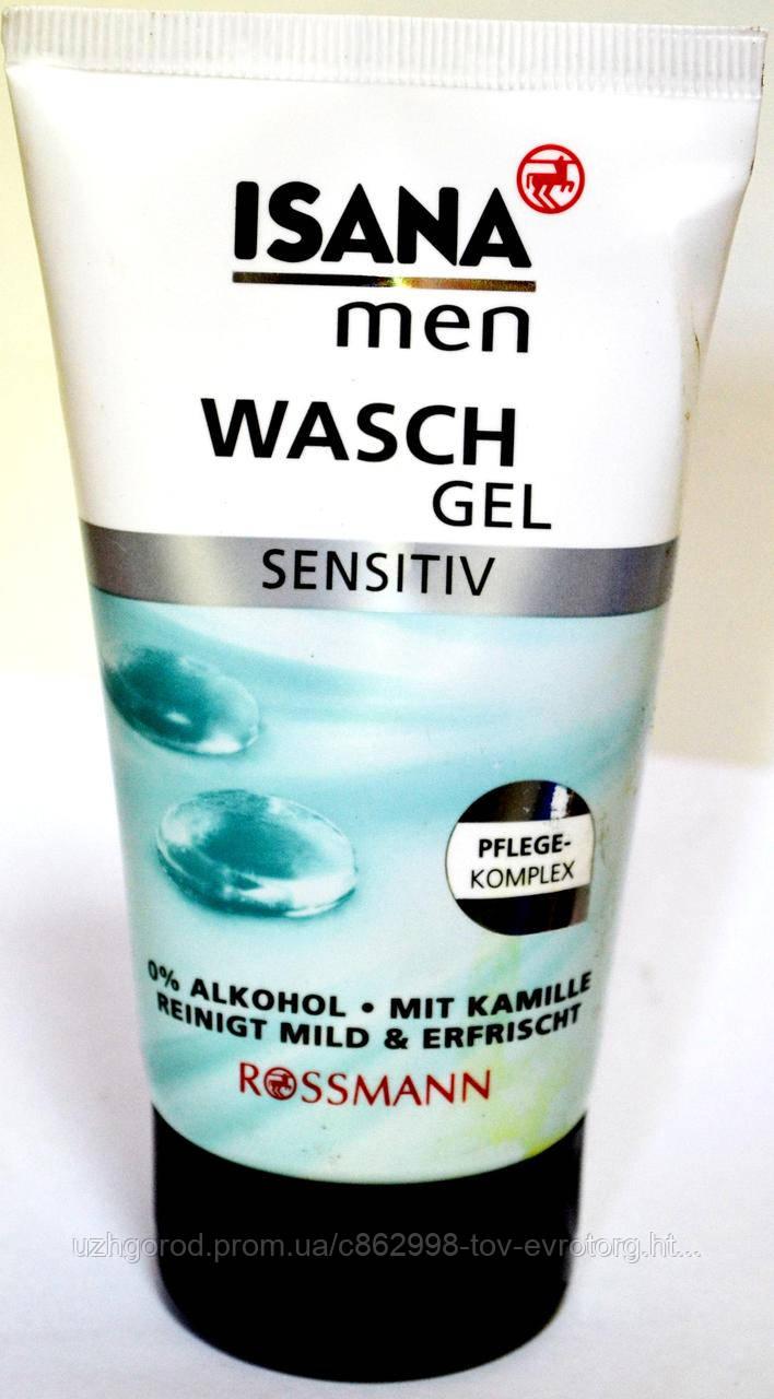 Мужской гель - лосйон для умівания лица Isana men Wasch gel Sensetive 150ml