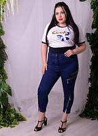 Капри джинсовые женские,  48-74 размер