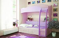 Двухъярусная подростковая кровать 190см  Veseliil цвет под заказ