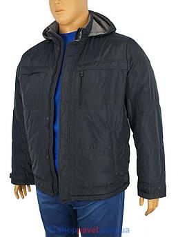 Чоловіча чорна куртка Sooyt Fashion 228B / 401в великому розмірі