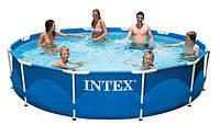 Каркасный сборно-разборный бассейн Intex 28210 Metal Frame Pool (366-76 см.)