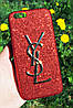Чехол накладка для IPhone 6/6s/7 блестки Yves Saint Laurent