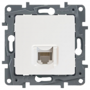 Розетка информационная (компьютерная) RJ45 кат. 6 UTP, белый, Legrand Etika Легранд Этика