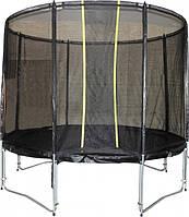 Батут Kidigo 244 см Vip Black (BTV244) с защитной сеткой