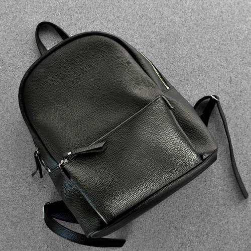 bea3152f27b4 Кожаный рюкзак городской Pilot большой Черный - Интернет-магазин