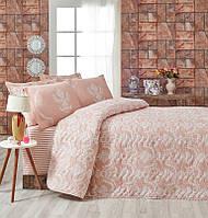 Покрывало стеганное с наволочками Eponj Home - Pure розовое 200*220
