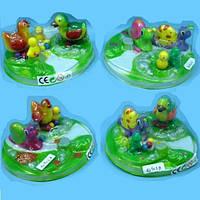 Заводная игрушка (360шт/2) 4вида,набор игрушек,под слюдой 14.5*14.5*5.5см