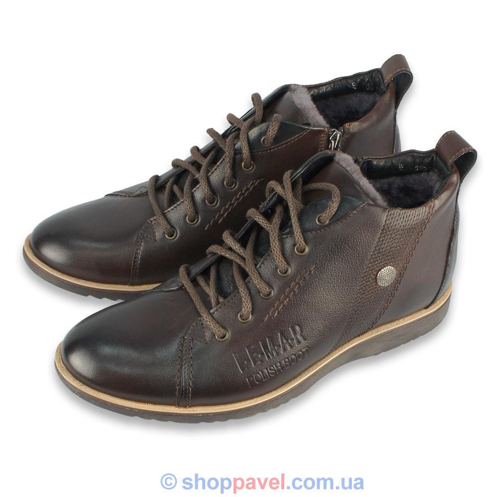 Чоловіче зимове взуття  Lemar 1037 коричневого кольору