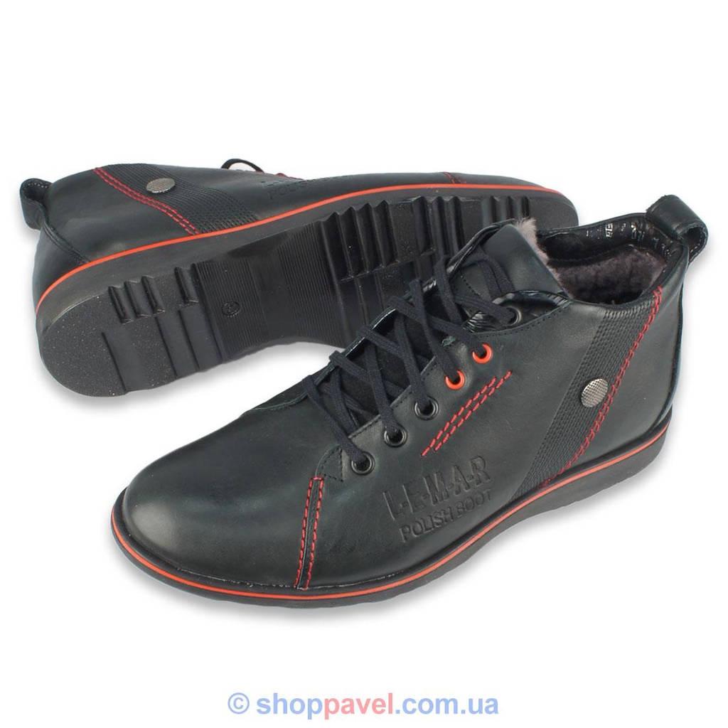 Чоловіче зимове взуття Lemar 1037 чорного кольору в інтернет ... df55fb0c0754a