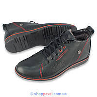 Чоловіче зимове взуття Lemar 1037 чорного кольору