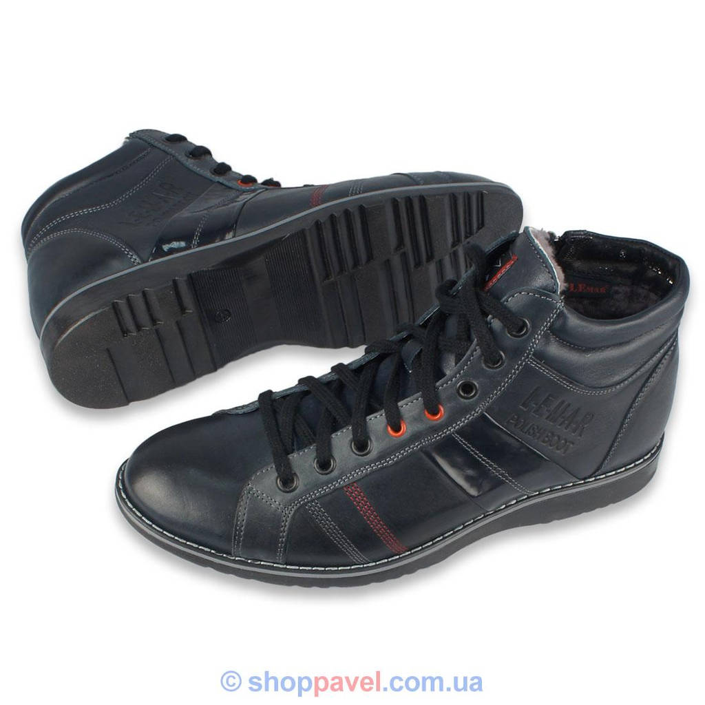 Чоловіче зимове взуття Lemar 1023 синього кольору в інтернет ... 00d7d70919466