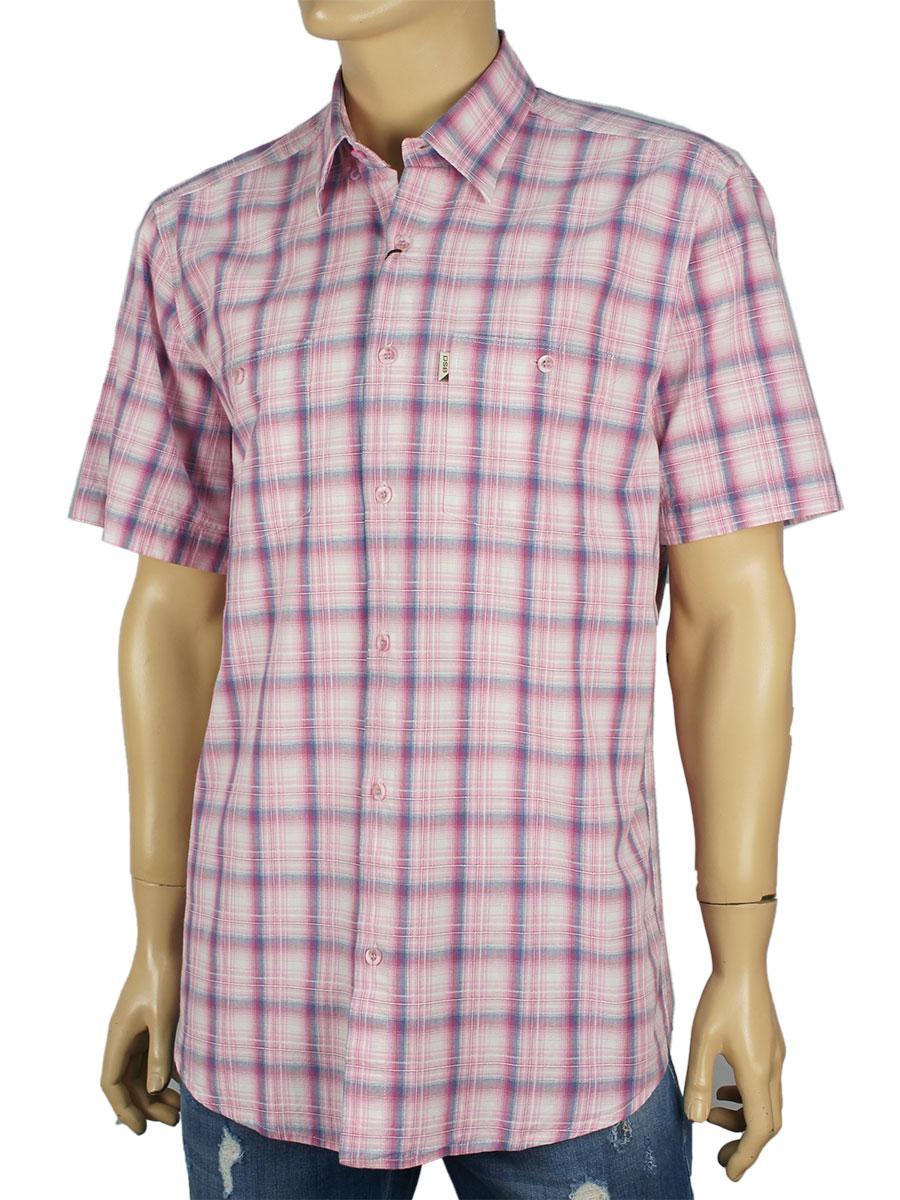 Чоловіча сорочка Desibel 0310 indigo 100% бавовна