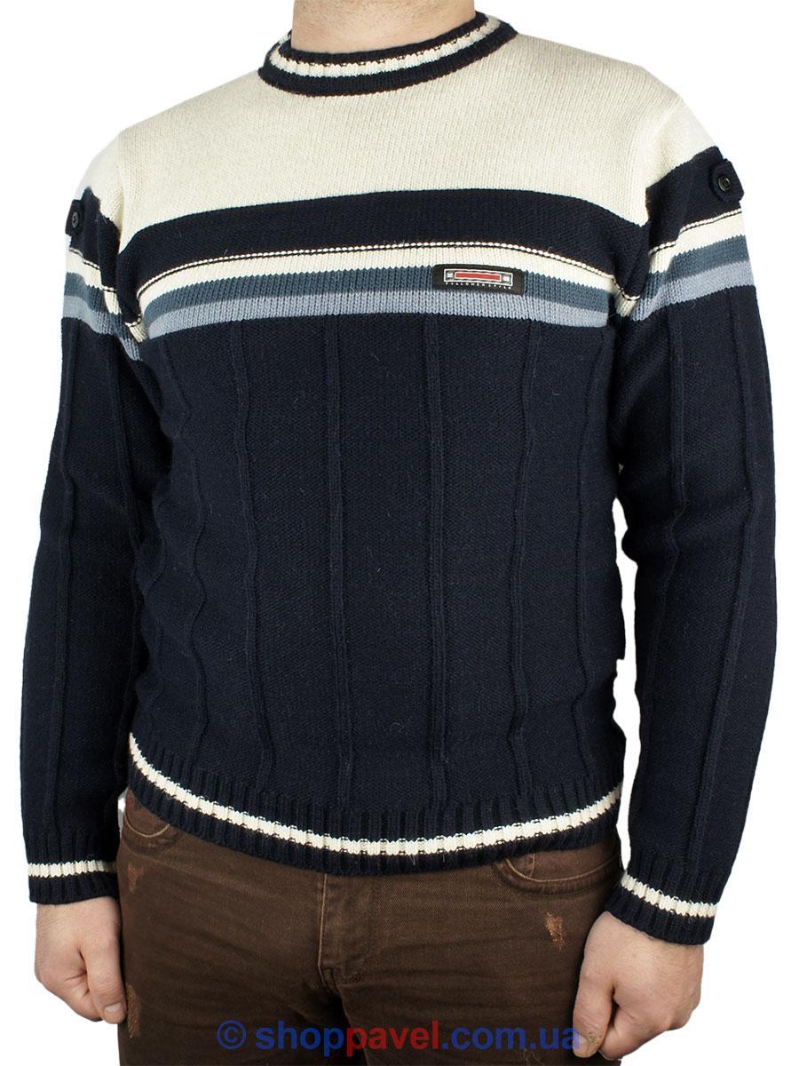 Чоловічий в язаний светр Turhan в різних кольорах 0480 Н коло - Магазин  великих розмірів 1d3af9e9e3710