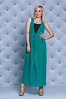 Женское пляжное платье-туника  зеленое
