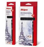 Набір олівців графітних для креслення, 6 штук., SK-9500-6