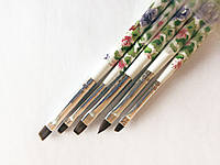 Набор кистей для росписи и геля с цветочным принтом  5 шт