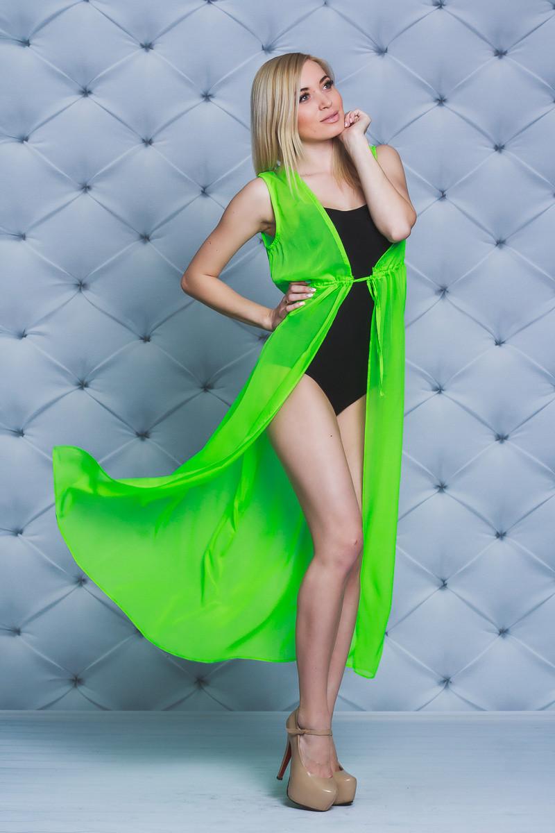 fcc1143b7bf31 Женское пляжное платье-туника салат: продажа, цена в Кременчуге ...