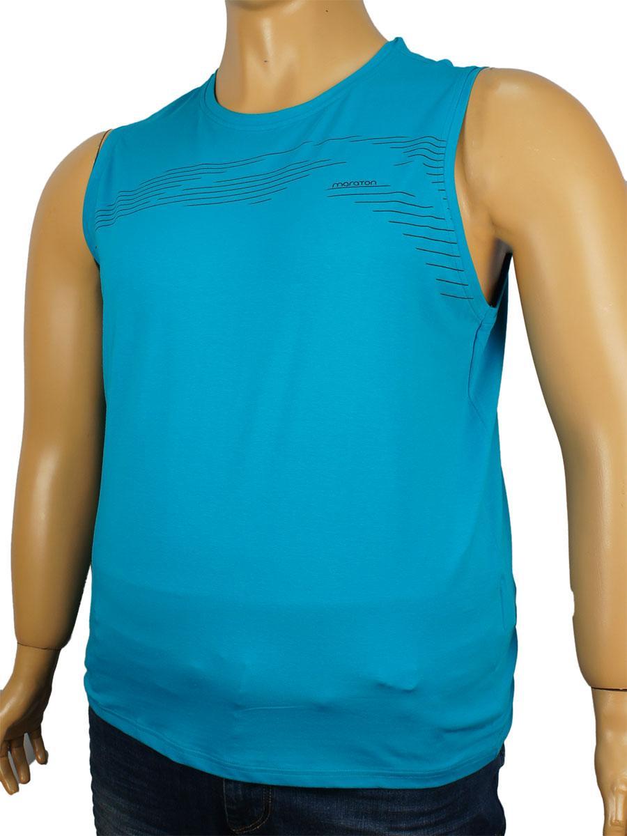 Чоловіча бірюзова безрукавка Maraton SLT001 у великому розмірі