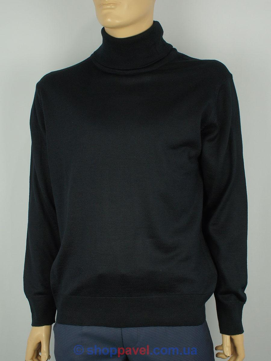 Чорна чоловіча водолазка гольф Wool Yurt 0250