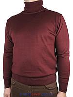 Чоловіча водолазка гольф Wool Yurt 0250 в бордовому кольорі