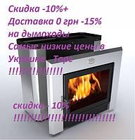Печь каменка для сауны с выносом Горизонталь Новаслав ПКС - 04 Кожух из нержавеющей стали
