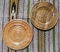 Тарілка різьбленна сувенірна дерев'яна ручної роботи 27,5-28 см