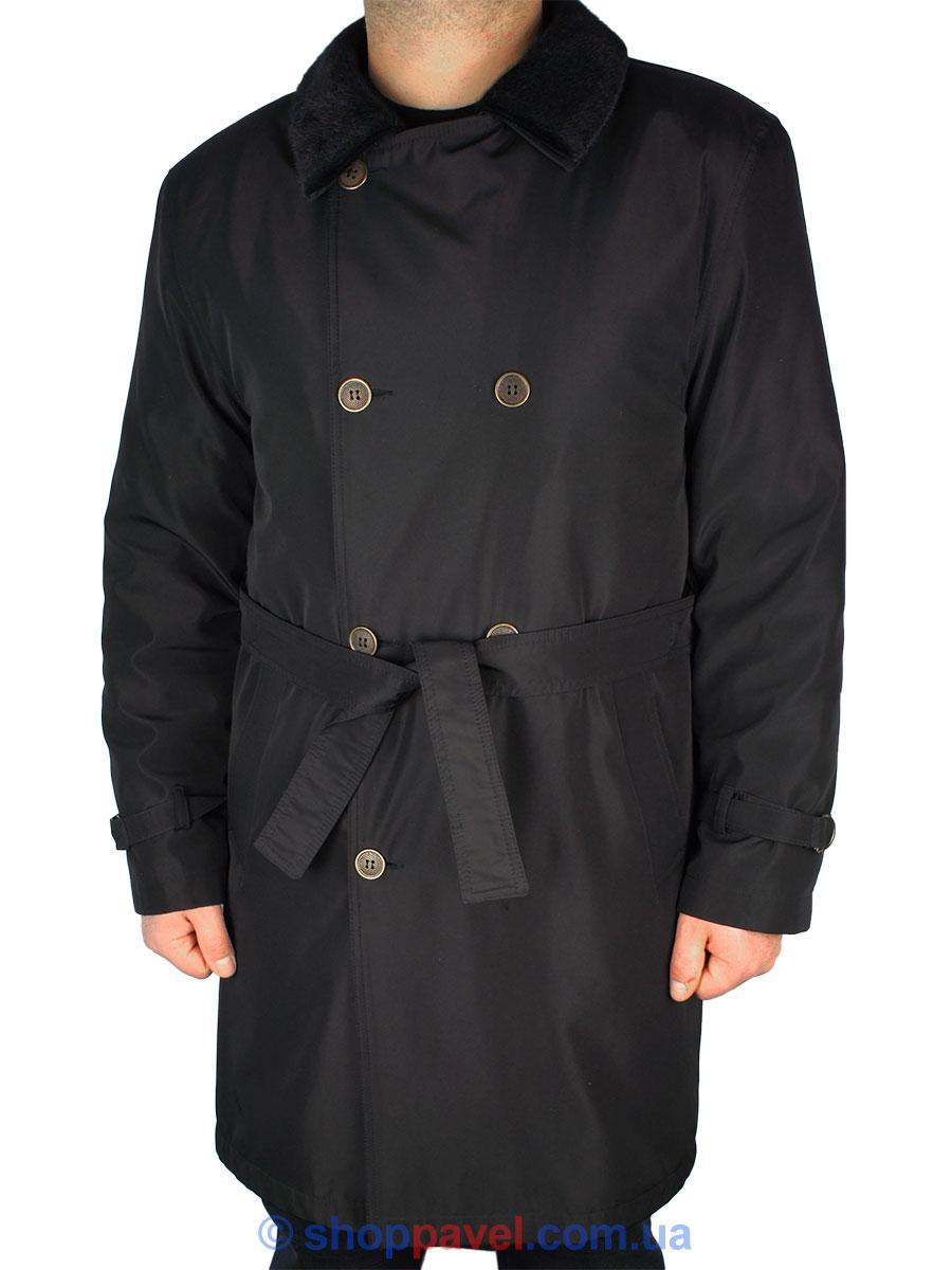 Класична чоловіча куртка Lamberty B-11/1390 в чорному кольорі