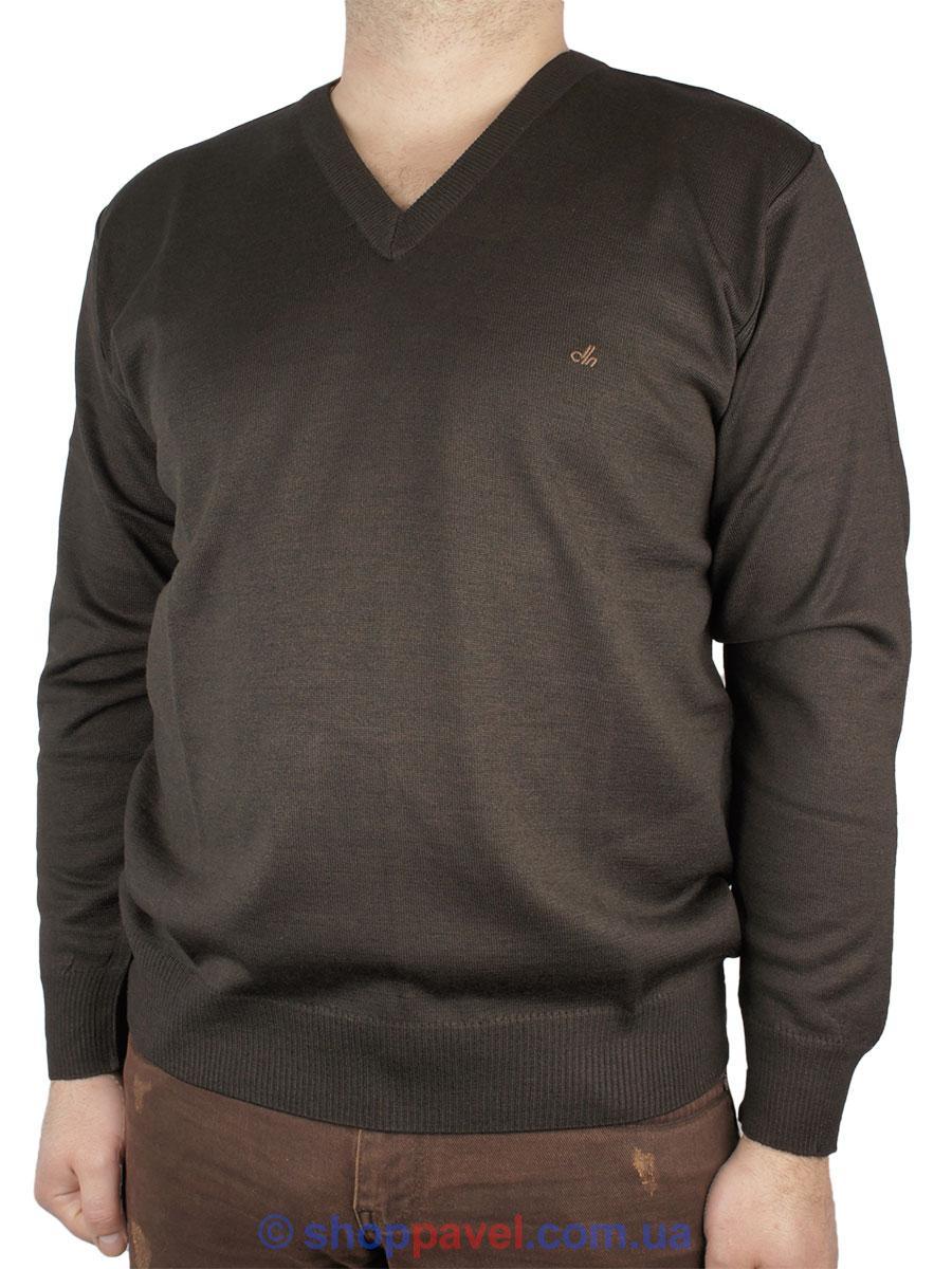 Класичний чоловічий светр DLN в коричневому кольорі 2305 Н