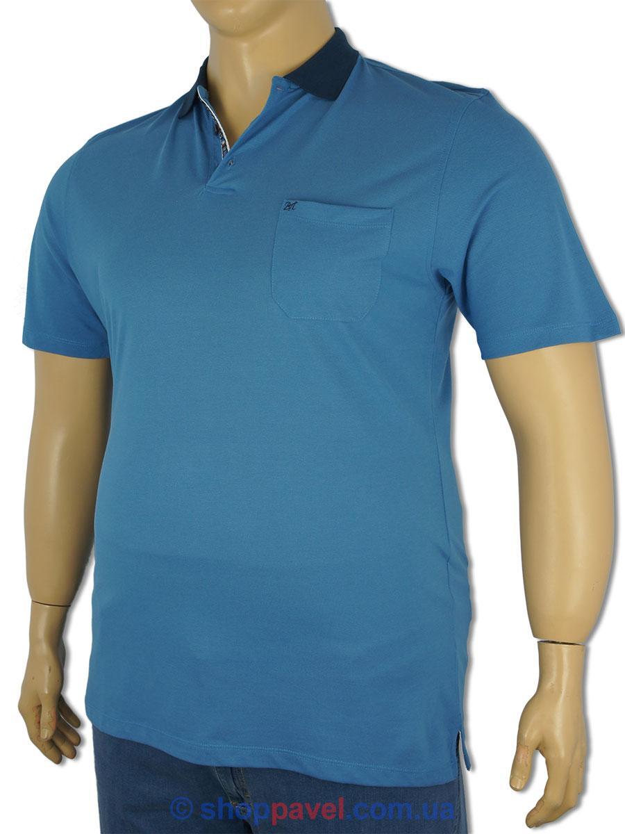 Чоловіча теніска Better Life 1030 B синя великих розмірів