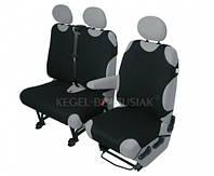 Майки на сиденья BUS 2+1 Kegel передние черные DV 1+2