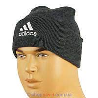 Стильна чоловіча в'язана шапка Adidas 090