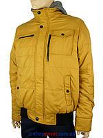 Зимова чоловіча куртка Santoryo WK 7360 жовтого кольору