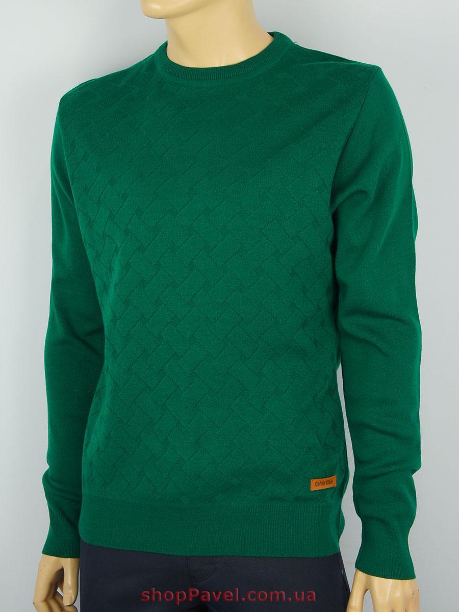 Чоловічий светр зеленого кольору реплика Calvin Klein l0510