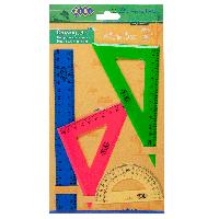 Набор геометрический Zibi ZB5685 (2 треугольник, транспортир, линейка 20 см)