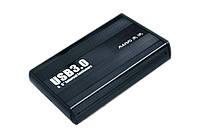 Карман внешний 3,5' Maiwo K3502-U3S black SATA через USB3.0 на винтах алюм. черн.