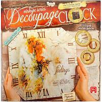 """Декупаж """"Decoupage clock"""" без рамки"""