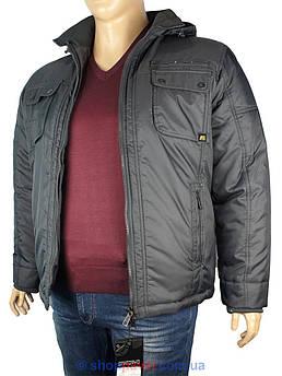 Чоловіча зимова куртка Santoryo WK 5028 B в темно-сірому кольорі
