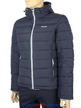 Укорочена чоловіча зимова куртка Malidinu М-13511-С 2 Е # в синьому кольорі