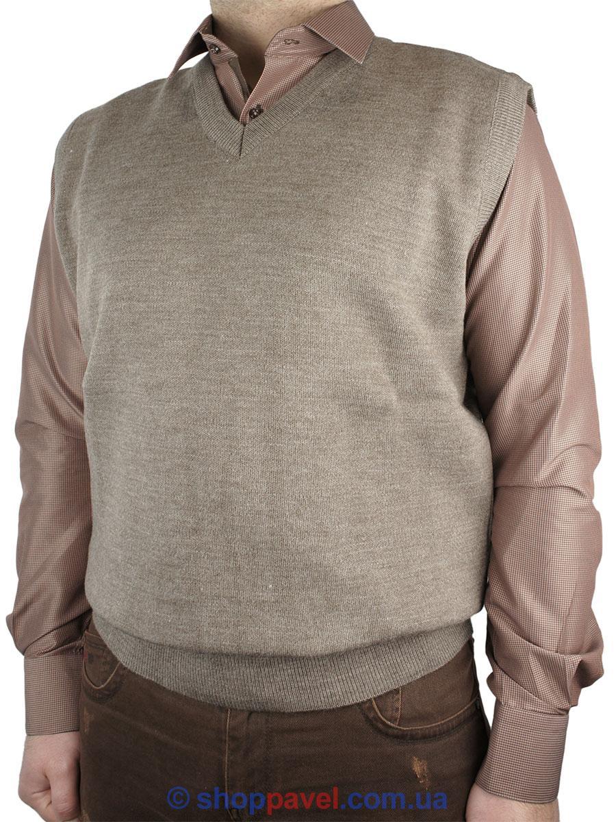 Чоловічий трикотажний жилет Bendure 0290 в коричневому кольорі