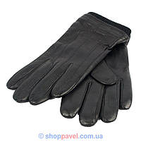 Чоловічі шкіряні рукавиці Elma 0360 в чорному кольорі