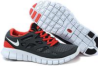 Кроссовки Nike Free Run 2.0 Gray Red Серые мужские