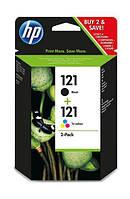 Картридж HP No.121 Black/Tri-color Combo Pack