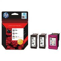Картридж HP No.46 Ultra Ink Advantage 3-Pack 2 x Black+1 x Tri-Color