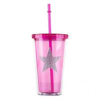 Яркий стакан - термос 450 мл (пластик)