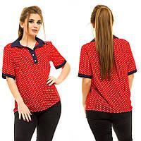 Блузка женская летняя большие размеры АНД5014, фото 1