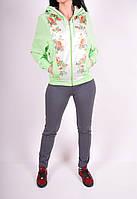 Костюм спортивный женский (цв.салатовый) Lycra Billcee Размеры в наличии : 40,42,44 арт.14Y5001-2IP (Cotton 60