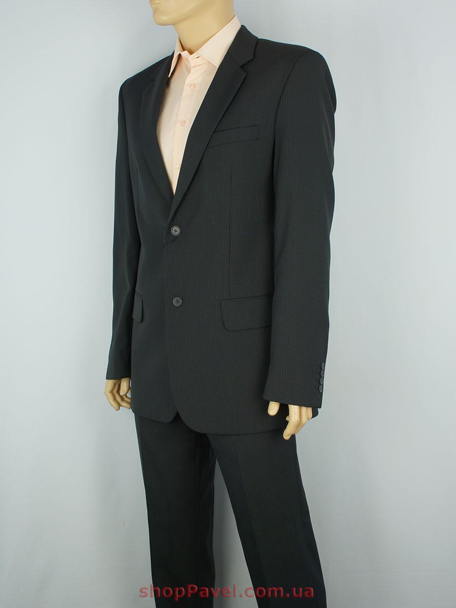 Чоловічий костюм Legenda Class чорний в смужку 5426 - Магазин великих  розмірів 5XL в Сумской области 26f3cb0bc42a9