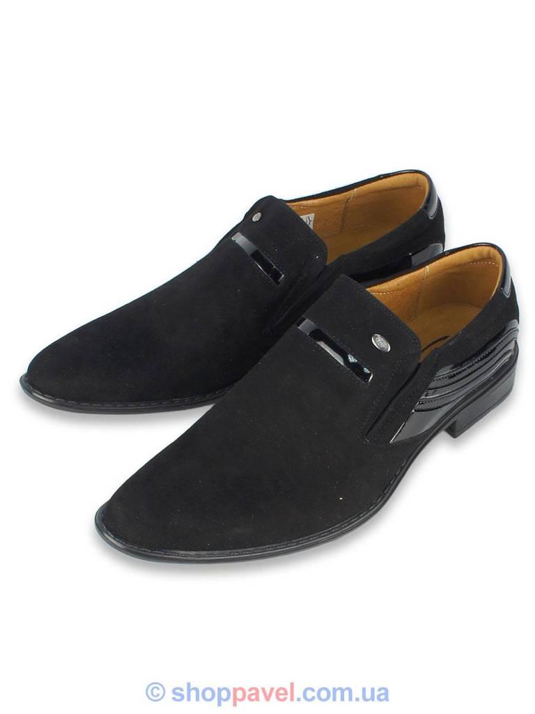 Класичні чоловічі туфлі Tapi 4032 замш чорного кольору в інтернет ... 72fa9e3436013